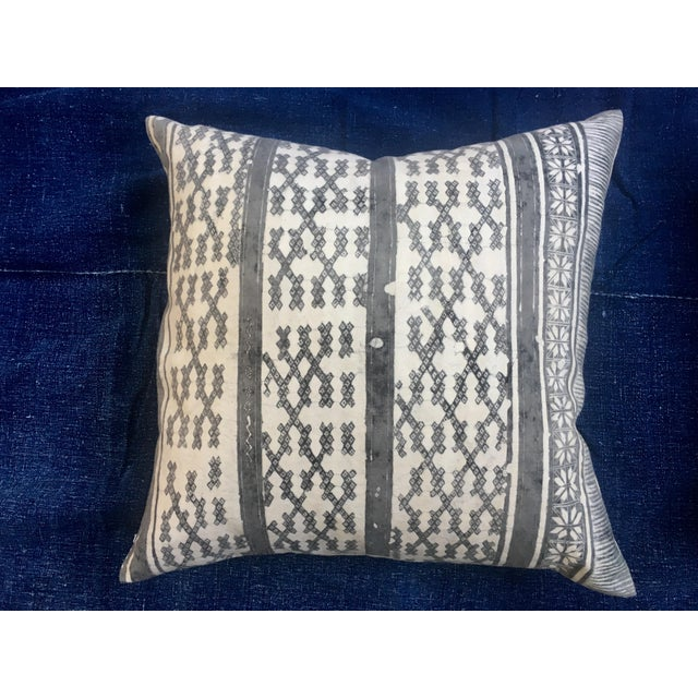 Silver Tribal Batik Pillows - A Pair - Image 4 of 7