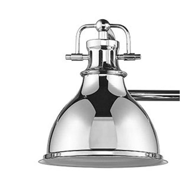 Industrial Warehouse 3 Light Vanity, Polished Chrome For Sale - Image 3 of 4