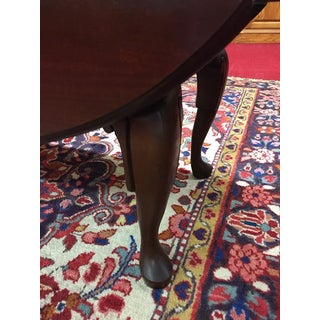 1980s Queen Anne Dark Cherry Drop Side Coffee Table Preview