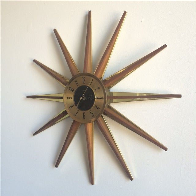 Welby Atomic Starburst Clock - Image 4 of 7