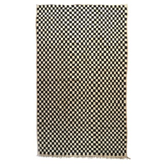 1990s Moroccan Wool Checkerboard Rug - 5′ × 8′3″ For Sale