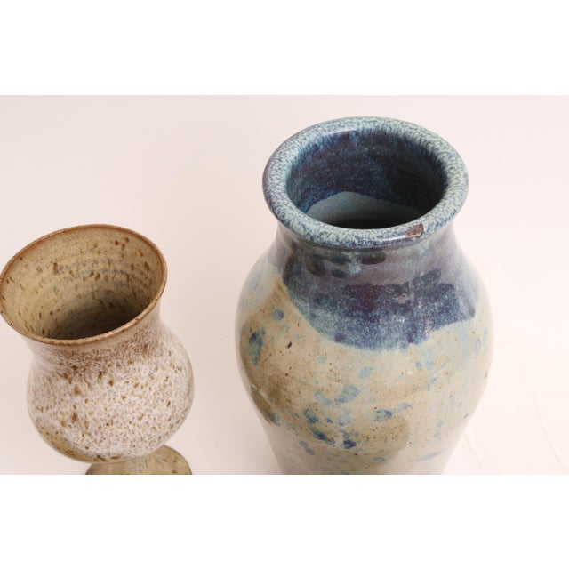 Mid-Century Modern Handmade Studio Pottery Vases - Set of 5 - Image 5 of 5