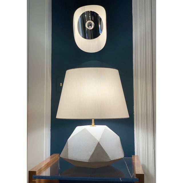 Contemporary Ceramic Geode Table Lamp For Sale - Image 3 of 3