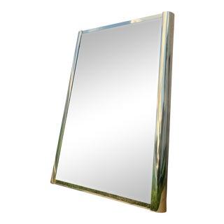 Vintage 1970s Ello Brass Wall Mirror For Sale