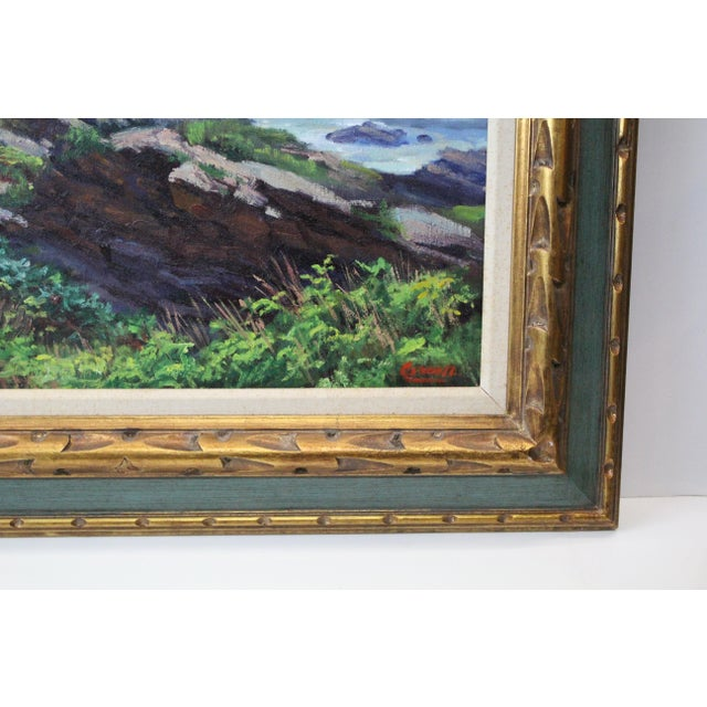 Paint Caddell Seascape of Belfast Maine For Sale - Image 7 of 8