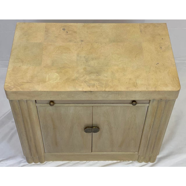 Wood Vintage Contemporary Art Deco Hickory White Cabinet For Sale - Image 7 of 11