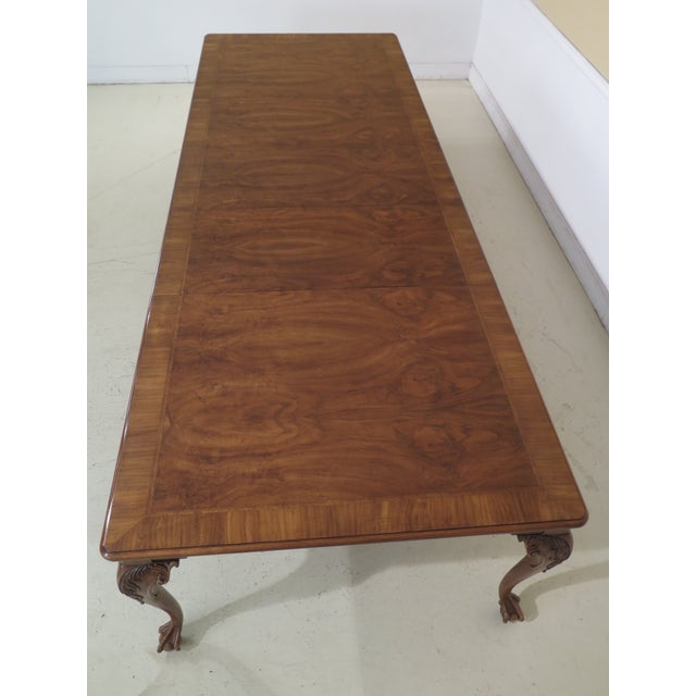 1980s Traditional Karges Ball & Claw Walnut Dining Room Table For Sale - Image 10 of 13