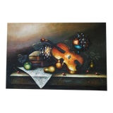 Image of Still Life Painting on Canvas For Sale