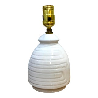 Vintage Mid Century Modern White Table Lamp For Sale