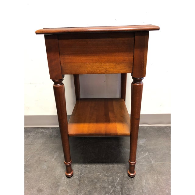 Thomas Chippendale Solid Cherry Chippendale Nightstand by Cherry Hill Collection For Sale - Image 4 of 12
