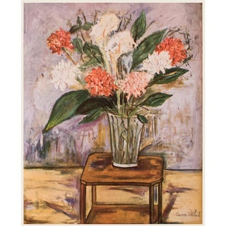 "1950s Maurice Utrillo ""Flower Still Life"", First Edition Period Lithograph For Sale"