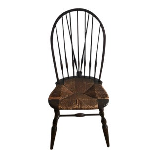 Late 18th Century Windsor Rush Seat Chair For Sale