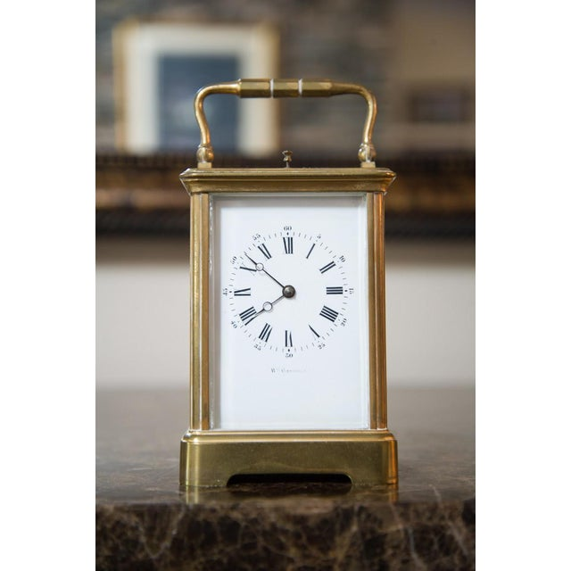 Brass Renard Roitel French Brass Carriage Clock For Sale - Image 7 of 7