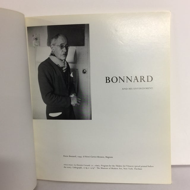 Modern Bonnard & His Environment, Hardcover Book For Sale - Image 3 of 10