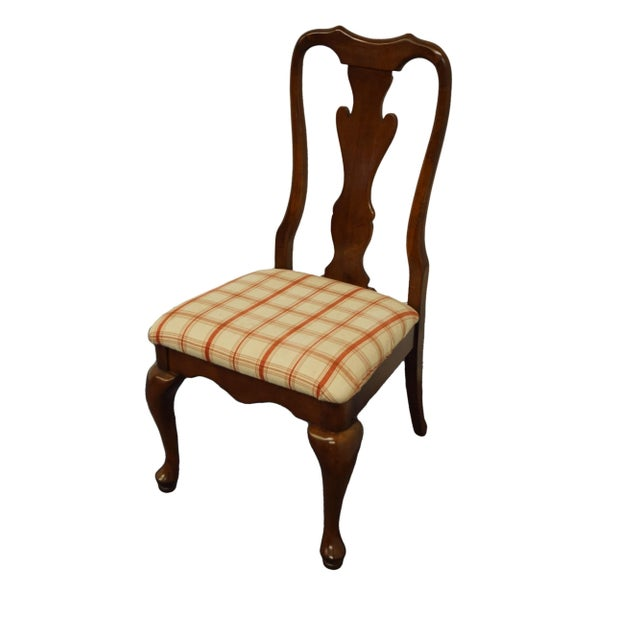 """KELLER FURNITURE Solid Cherry Traditional Queen Anne Style Dining Side Chair 9505 40.5"""" High 22"""" Wide 23.25"""" Deep Seat:..."""