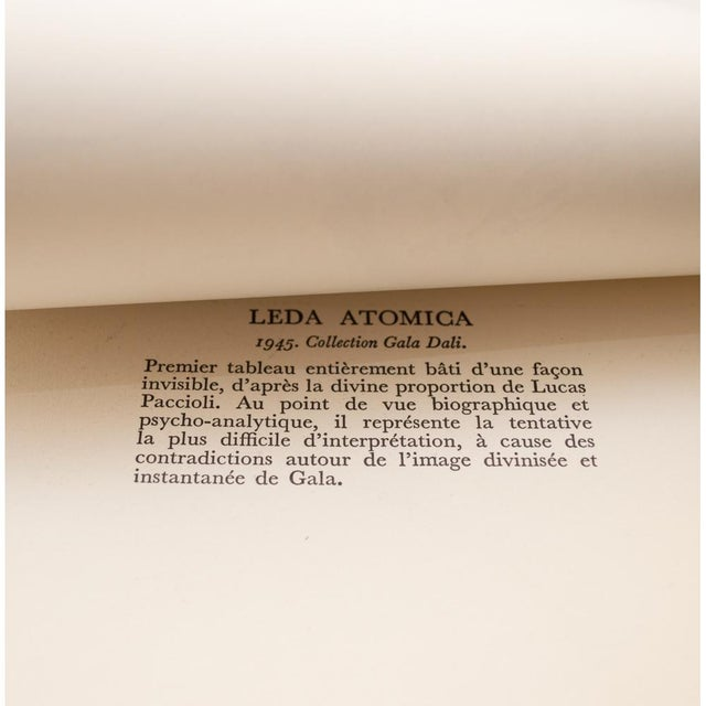 "1950s 1957 Salvador Dalí ""Leda Atomica"" Period Vintage Lithograph Print For Sale - Image 5 of 9"