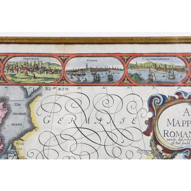 Blue Framed Map of Roman Empire For Sale - Image 8 of 11