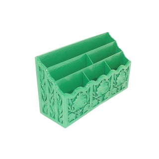 Vintage Green Desk Organizer / Mail Holder Office Sorter For Sale