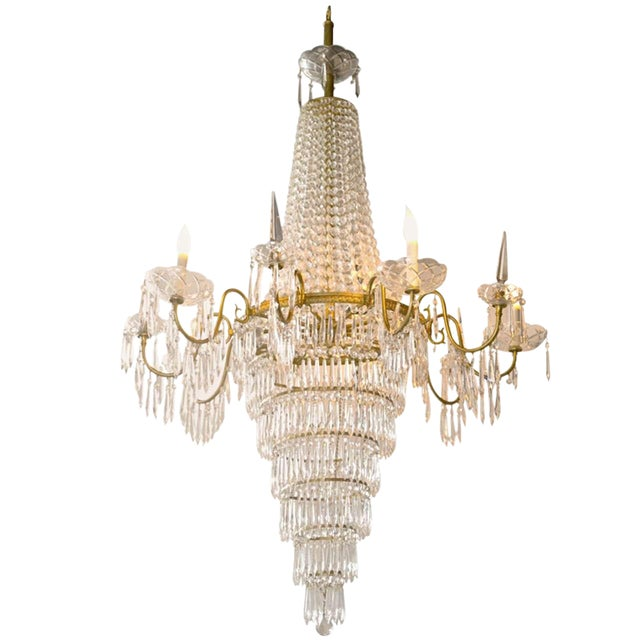 French Empire Style Crystal Chandelier For
