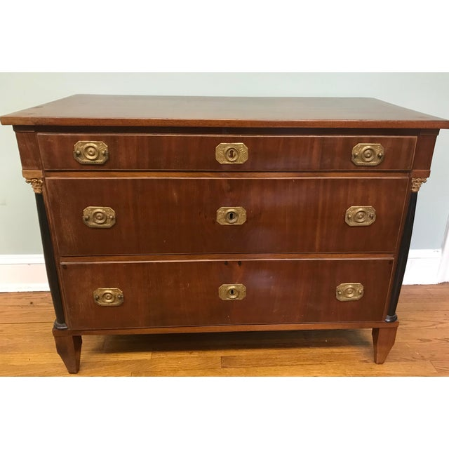 Biedermeier Mahogany Commode For Sale In Chicago - Image 6 of 6