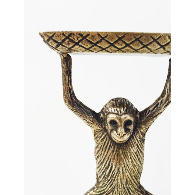 Vintage Brass Monkey Business Card Dish - Image 5 of 5