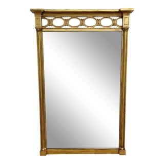 1970s Hollywood Regency John Widdicomb Gold Carved Wood Wall Mirror