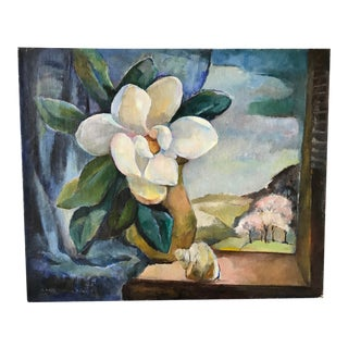 Magnolia Still Life Painting For Sale