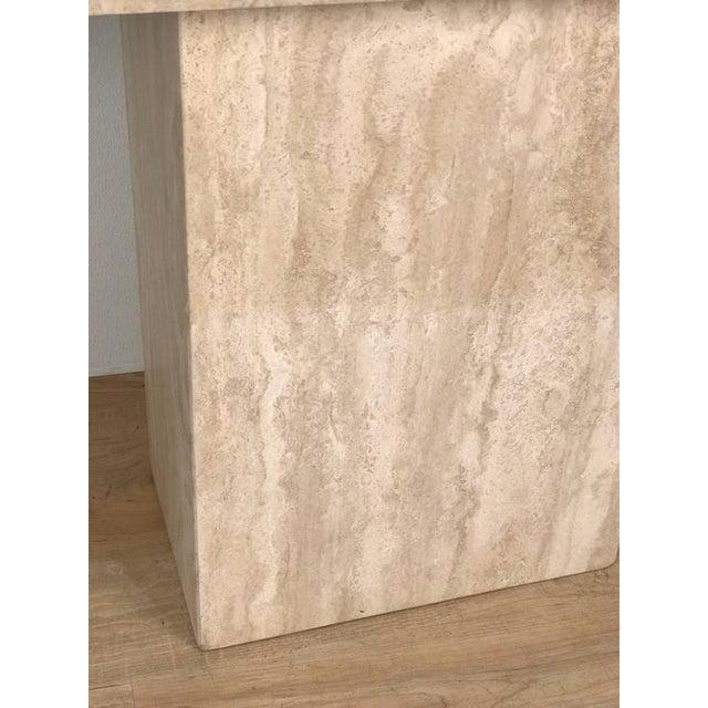 Italian Modern Monolith Travertine Console For Sale - Image 4 of 4
