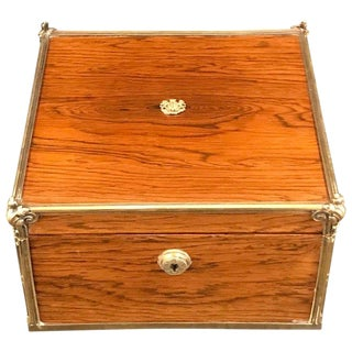 Royal Silver-Gilt Mounted Toilet Box by Paul Storr, London, 1813 For Sale