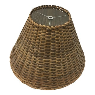Medium Wicker Empire Lampshades For Sale