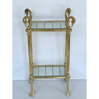Diminutive Swan Motif Brass and Glass Étagère, in the Style of p.e Guerin Preview