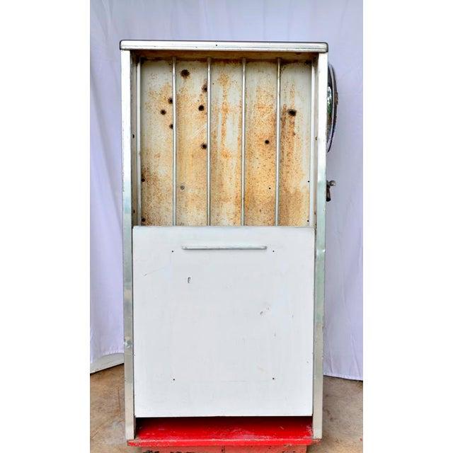 Silver Vintage Mobil Oil Pegasus Advertising Display Cabinet For Sale - Image 8 of 13
