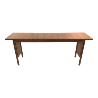 Erwin Lambeth for John Stuart Walnut Console Table For Sale