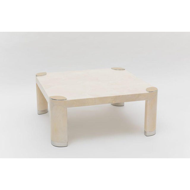 Pair of 1980s Karl Springer Goatskin Occasional Tables For Sale - Image 11 of 11