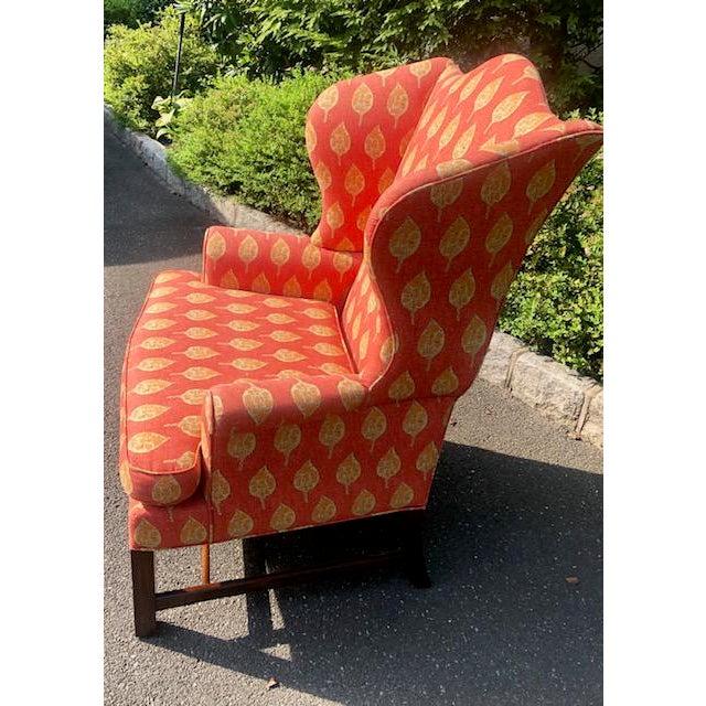 Kittinger 1980s Vintage Kittinger Colonial Williamsburg Wingback Chair For Sale - Image 4 of 10