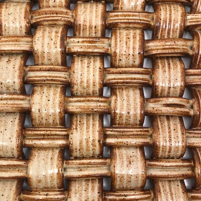 Phil Sellers River Hill Pottery Basket Weave Bowl or Platter For Sale - Image 9 of 13