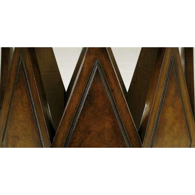 Weiman Burled & Figured Walnut End Table With Open Harlequin Base For Sale - Image 4 of 6