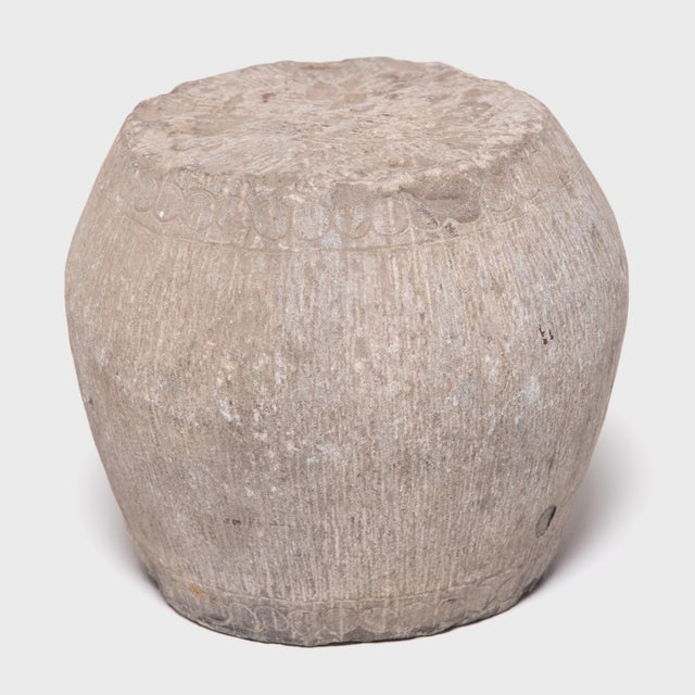 19th Century Petite Chinese Stone Drum For Sale In Chicago - Image 6 of 6