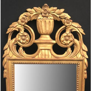 Early 20th Century French Hand Carved Louis XVI Style Giltwood Mirror Preview