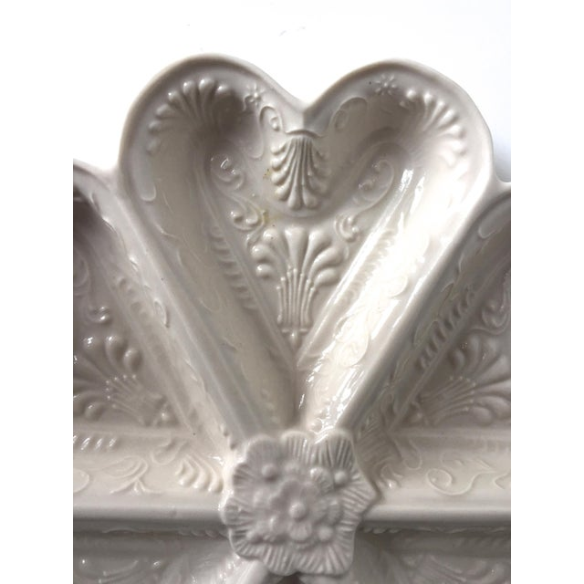 Vintage Salt Glazed Heart Shaped Dish For Sale - Image 5 of 7
