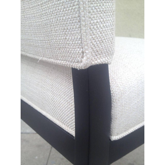 White Dining Chairs Att. To André Arbus - Set of 6 For Sale - Image 8 of 9