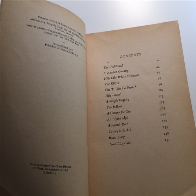 Ernest Hemingway Men Without Women Book For Sale - Image 5 of 7