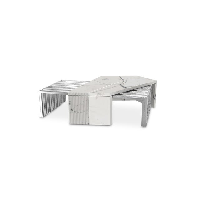 Brass Vertigo Outdoor Center Table From Covet Paris For Sale - Image 7 of 7