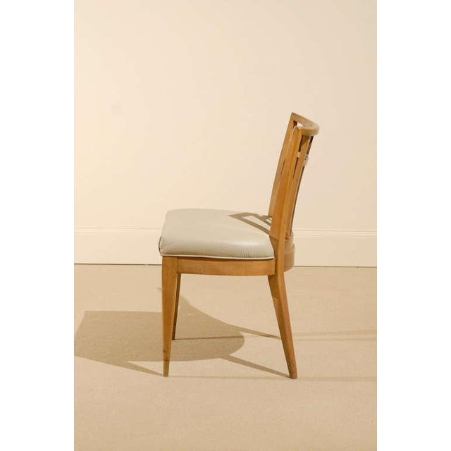Brown Set of Four (4) Chairs in the Style of Michael Taylor For Sale - Image 8 of 11