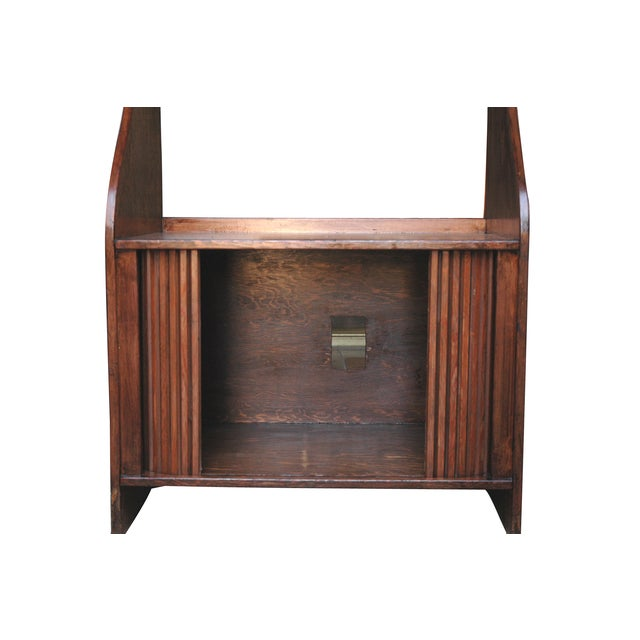 Handmade Wood Bookcase Shelves with Tambour Doors For Sale - Image 4 of 5