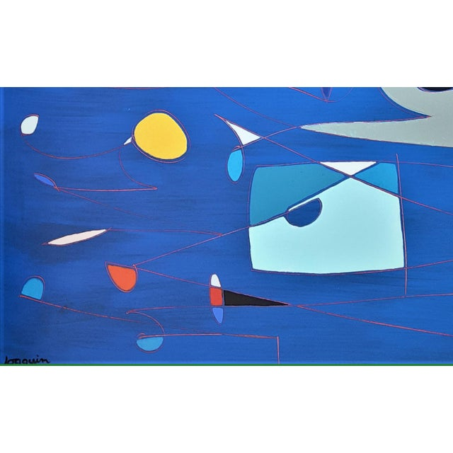 """Abstract """"Lucid Dreams"""" by Kenneth Joaquin (B. 1948) For Sale - Image 3 of 6"""