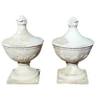 Stone Finials From the Garden City Hotel, a Ny Landmark For Sale