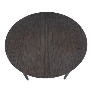 Mid-Century Modern Round Dining Table With Leaves For Sale