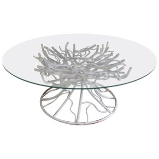 Modern Surrealist Iron Faux Tree Root Cocktail Table For Sale
