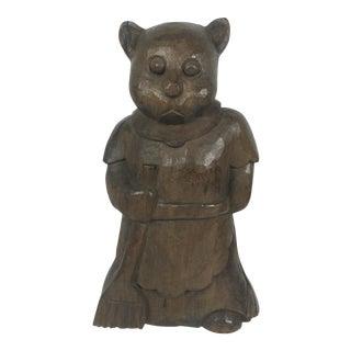 Vintage Carved Wood Bear Paper Mache Mold/Sculpture For Sale